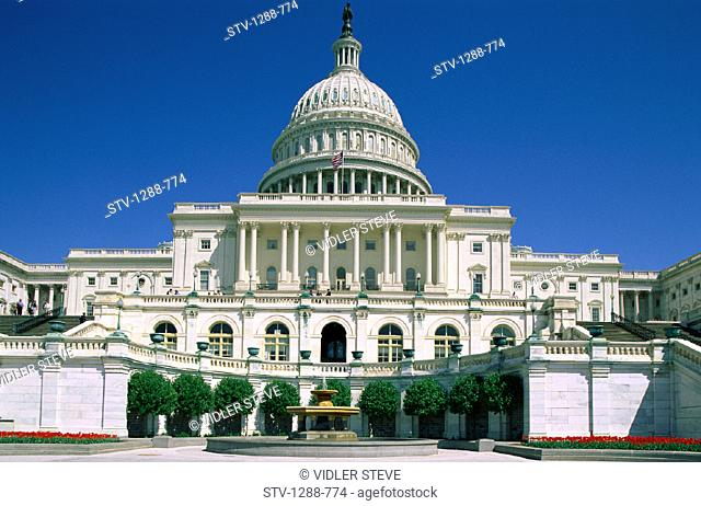 America, Building, Capitol, Congress, Dome, Flag, Holiday, Landmark, Leadership, Tourism, Travel, United states, USA, Vacation