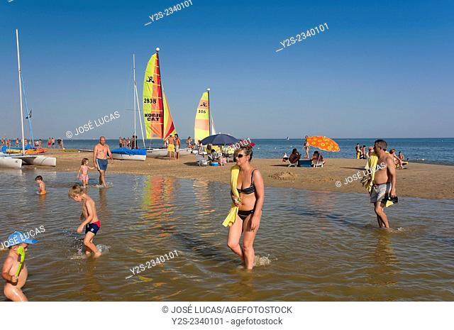 Central beach, Isla Cristina, Huelva province, Region of Andalusia, Spain, Europe