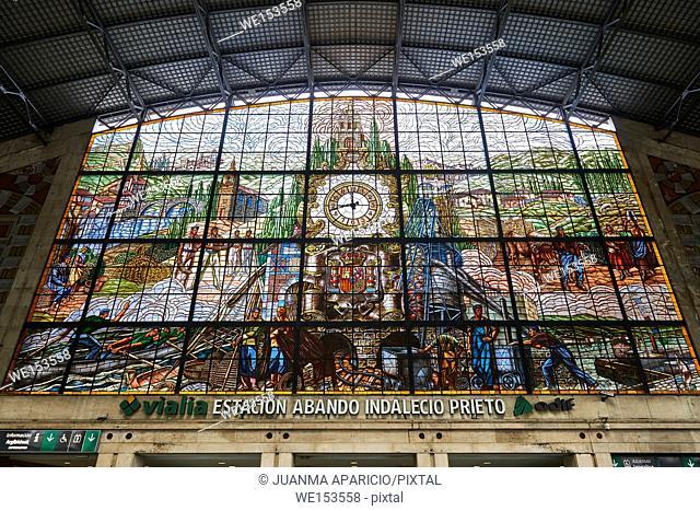 Indalecio Prieto Station, Bilbao, Biscay, Basque Country, Euskadi, Spain, Europe