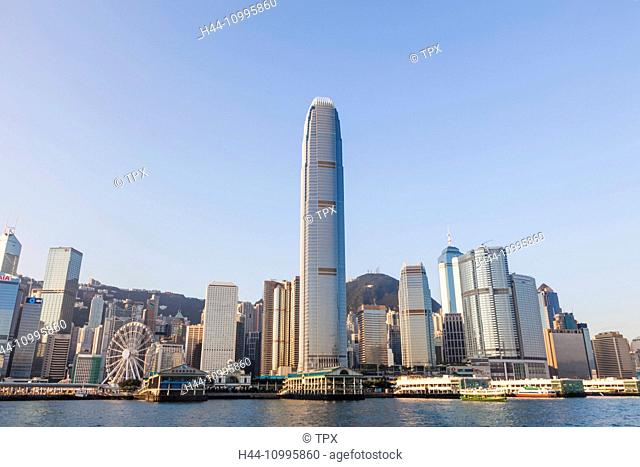 China, Hong Kong, City Skyline and Star Ferry