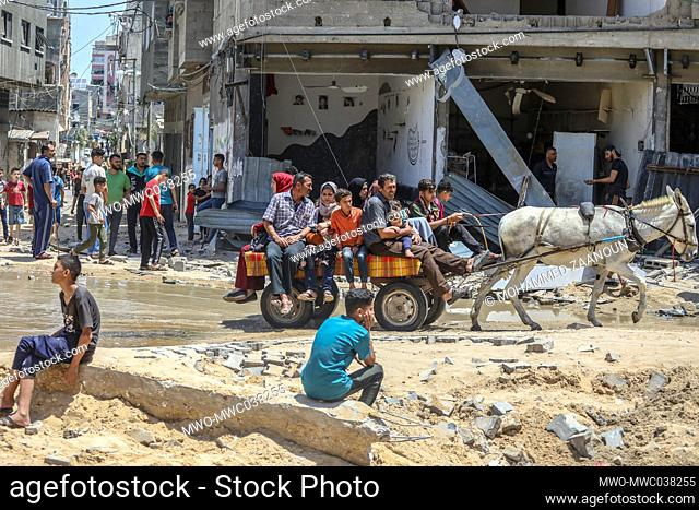 Palestinians inspect damages to their homes and property, and are trying to salvage whatever items they could. Gaza City