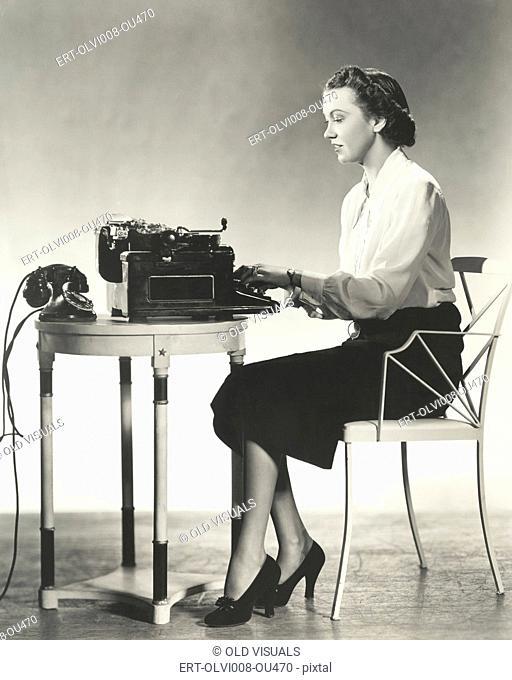 Writer at work (OLVI008-OU470-F)