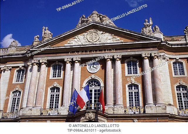 France, Midi Pyrenees, Haute Garonne, Toulouse, Capitolium Facade