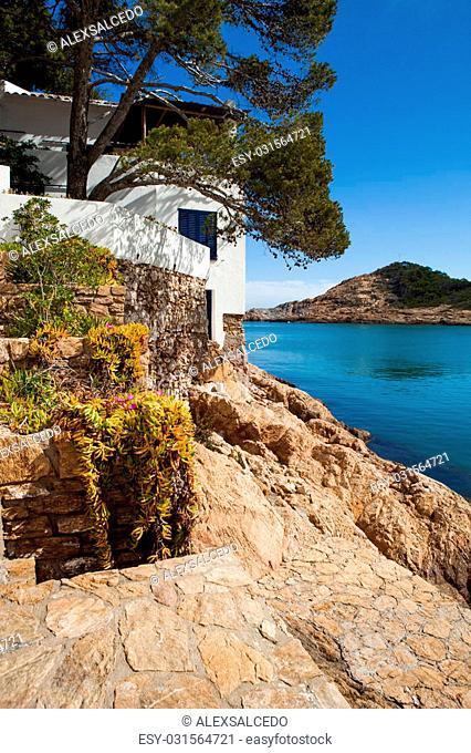 """Beach landscape of this small Costa Brava village called """"""""Sa Tuna"""""""" in Begur"""
