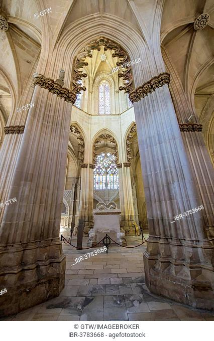 Founders' Chapel, Dominican abbey Batalha Monastery, Unesco World Heritage Site, Batalha, Leiria district, Portugal