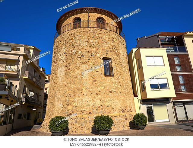Cambrils Torre del Port XVII century at Tarragona of Catalonia