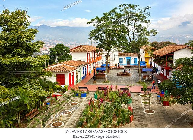 Pueblito Paisa (replica of a typical Antioquia town), Cerro Nutibara, Medellin, Antioquia, Colombia, South America