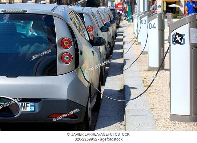 Electric cars. Paris. France