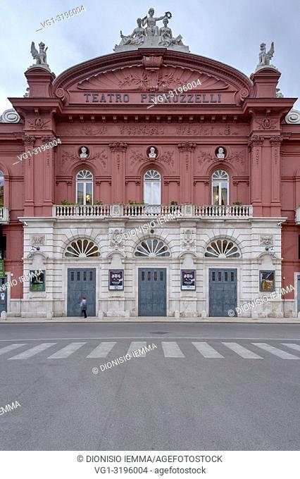 Bari, Bari district, Puglia, Apulia, Italy, Europe, Exterior of Petruzzelli Theater