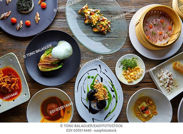 Molecular gastronomy variety of recipes Modern cuisine