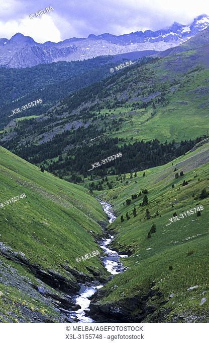 Zinqueta river. Pyrenees, Huesca. Aragon, Spain
