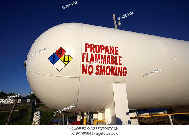 propane gas fuel storage tank in michigan north dakota united states of america