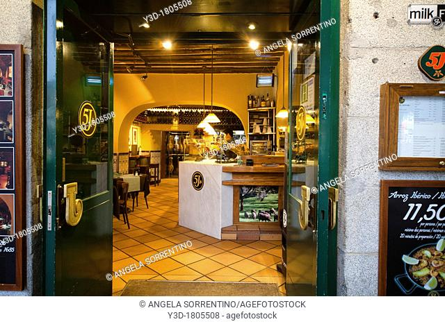 Spanish restaurant entrance