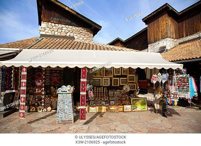 handicraft shop, ferhadija street, bascarsija, sarajevo, bosnia and herzegovina, europe