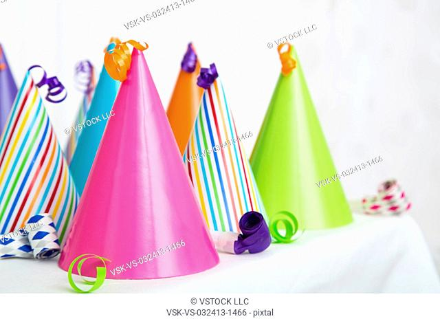Party hats, close-up