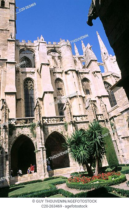 Saint Just Cathedral in Narbonne. Languedoc-Roussillon. France