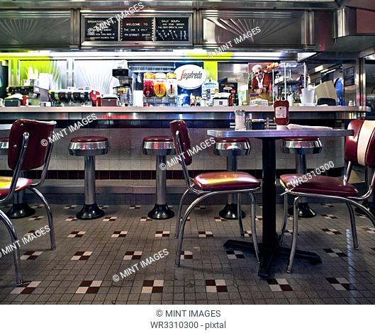 Interior of a Classic Style Diner