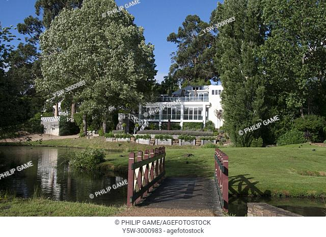 Luxury resort accommodation at Lake House, Daylesford. Daylesford is a mineral spa town in the Central Highlands of Victoria, Australia