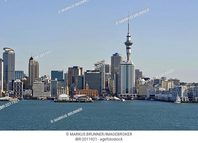View of Auckland skyline from Cyril Bassett VC Lookout, Auckland, New Zealand