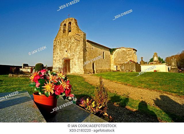 Queyssel Church, Lot-et-Garonne Department, Aquitaine, France