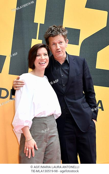 Tessa Ferrer, Richard Brown during 'Catch-22' TV show photocall, Rome, Italy - 13 May 2019