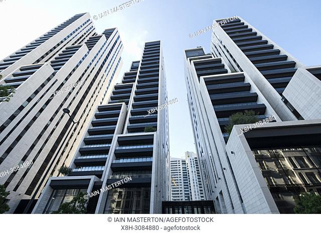 Modern high rise luxury apartment buildings , Beirut 1, 2, 3 in central Beirut , Lebanon
