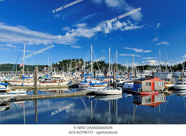 Boats in marina on the Sunshine Coast Gibsons British Columbia Canada