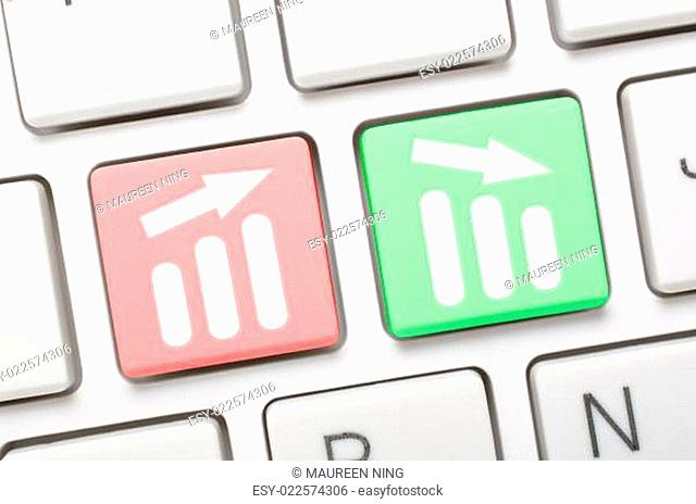Business concept key on keyboard