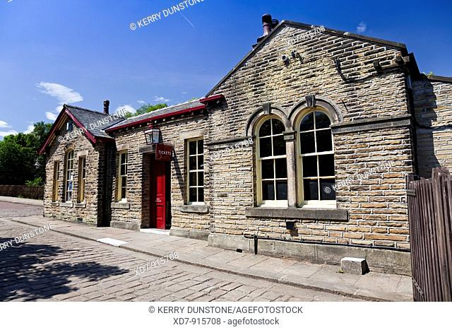 England West Yorkshire Oxenhope Station on the Keighley & Worth Valley preserved steam railway