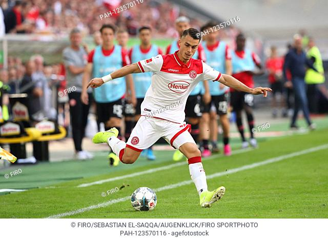 firo: 24.08.2019 Football, Football: 1. Bundesliga, season 2019/2020 Fortuna Dusseldorf Duesseldorf - Bayer Leverkusen 1: 3 Fortuna Erik Thommy