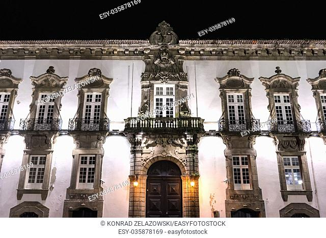 Episcopal Palace (former residence of the bishops) building next to Cathedral in Porto city, Portugal
