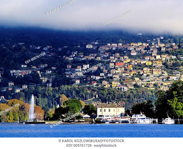 Como, italian city with a beautiful lake in a province of Lombardy