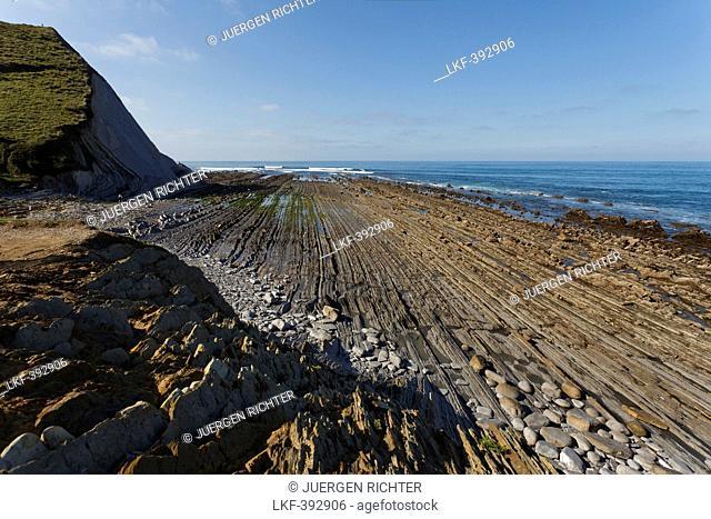 Intertidal zone, steep coast beetween Zumia and Deba, Atlantic ocean, Camino de la Costa, Camino del Norte, coastal route, Way of St