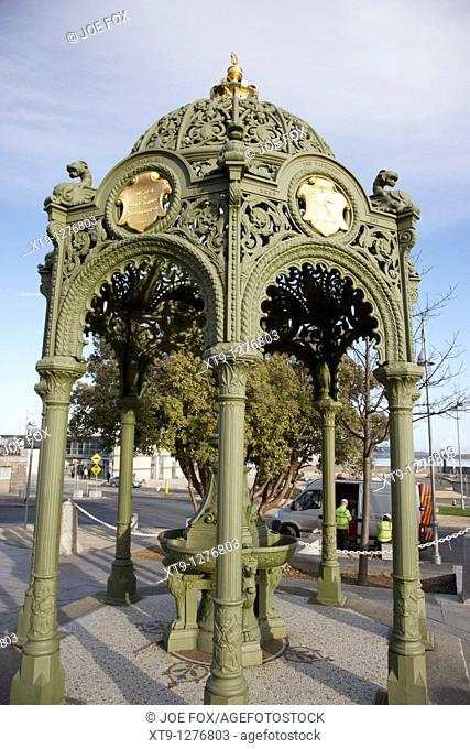 restored victorian drinking fountain in dun laoghaire dublin republic of Ireland