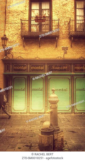 Torre Nueva Street, Montal Former Restaurant and Shop, Saragossa, Spain