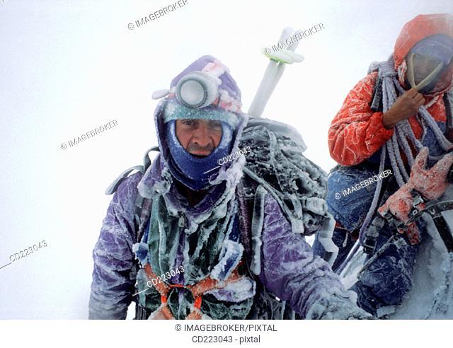 Mountain Climber, Mount Huascaran (6768 m.), Andes, Peru