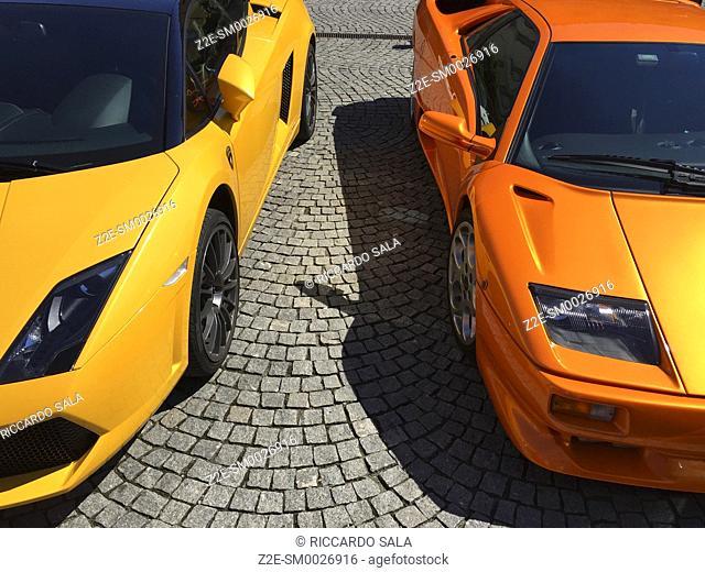 Lamborghini Cars Parked. . .