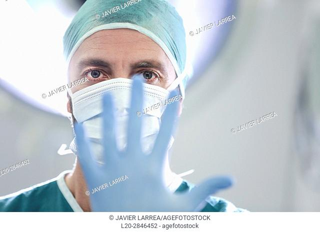 Surgeon, Surgery, Operating room, Hospital, Donostia, San Sebastian, Gipuzkoa, Basque Country, Spain