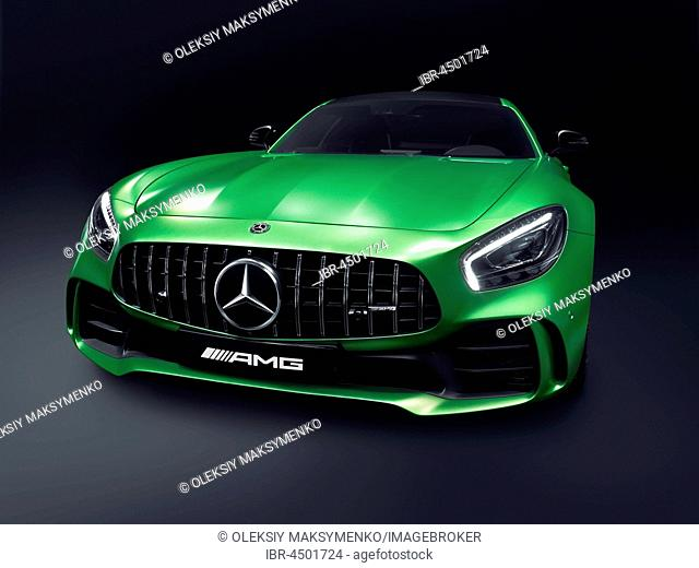 Green 2017 Mercedes-Benz AMG GT R Coupe sports car Grand Tourer, luxury car