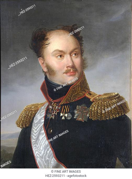 Portrait of Count Mikhail Fyodorovich Orlov (1788-1842), ca 1818. Found in the collection of the State Central Literary Museum, Moscow
