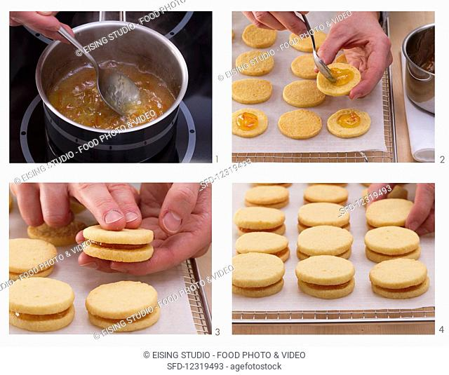 How to make biscuits filled with orange jam