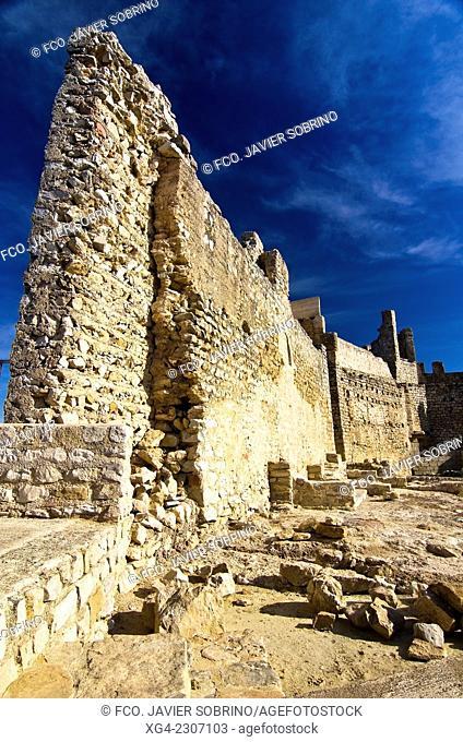 Xivert Castle ruins, medieval fortress in the Sierra de Irta - Alcalá de Xivert - Castellón - Comunidad Valenciana - Spain - Europe