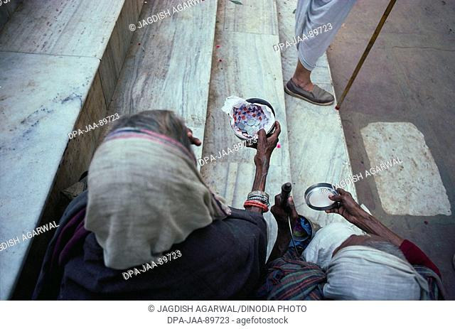 Beggar , Vrindavan , Govardhan , Uttar Pradesh , India