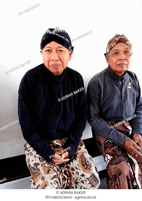 Indonesia Central Java Yogyakarta Abdi Dhalem servants of the Sultan at The Kraton The Palace of the Sultan