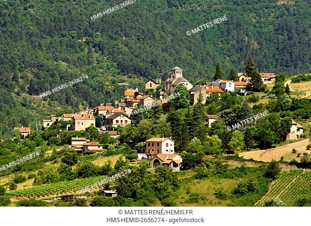 France, Lozere, the Causses and the Cevennes, Mediterranean agro pastoral cultural landscape, listed as World Heritage by UNESCO, the Gorges de la Jonte