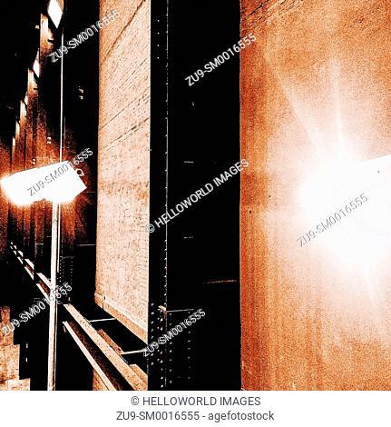 Lighting in the Turbine Hall, Tate Modern, London, England, Europe