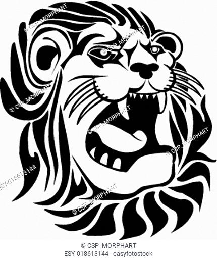 Vector Lion Face Tattoo Sketch Stock Photos And Images Age Fotostock