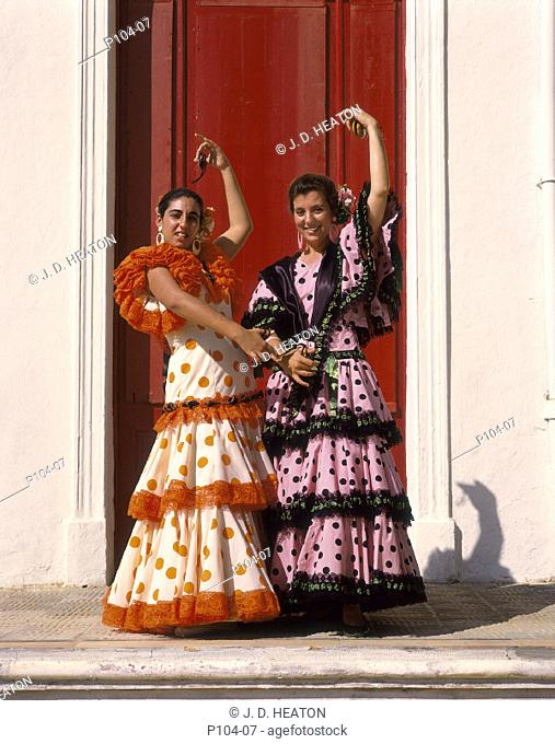 Spain. Flamenco dancers