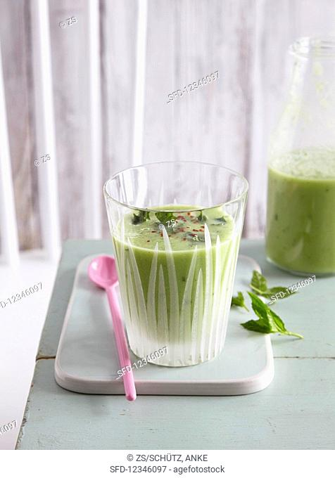 A melon and vegetable smoothie - 'Jump in the Pool'
