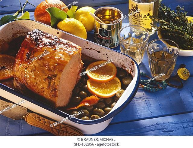 Cutlet Roast with Olives & Oranges